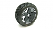 1/8 CITYBLOCK Tire Mounted, Pro 5 Wheel,Super Soft by AKA PRODUCTS INC. (AKA14002VPP)