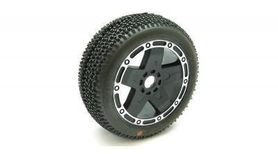 1/8 CITYBLOCK Tire Mounted, Pro 5 Wheel,Super Soft by AKA PRODUCTS INC. (AKA14002VPP)