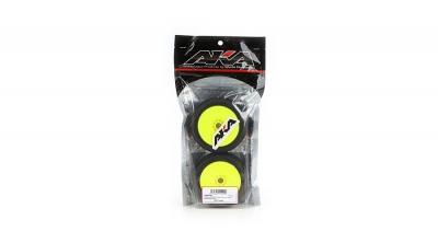 1/8 Buggy ENDURO Super Soft EVO Mounted Yellow by AKA PRODUCTS INC. (AKA14006VRY)