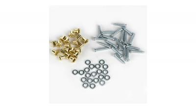 Tornillos, arandelas y bujes para montar servos  by Dubro Products (DUB114)