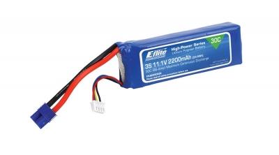 2200mAh 3S 11.1V 30C LiPo, 13AWG FICHA  EC3 E FLITE(EFLB22003S30)