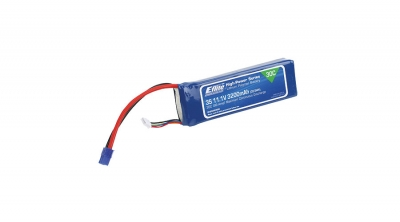 3200mAh 3S 11.1V 30C LiPo, 12AWG FICHA EC3  E-flite (EFLB32003S30)