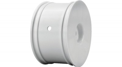 Truggy Wheels, Zero Offset, White (4): 8T 2.0 by Losi (LOSA7746)