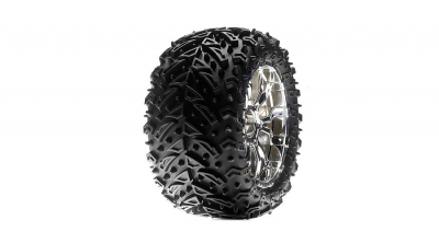 320S Zombie Max / Force Wheel Mounted, Chrome (2) by Losi (LOSB7413)