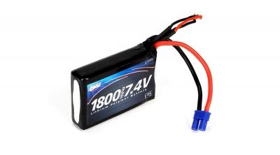 7.4V 1800mAh 2S 20C LiPo: EC2 by Losi (LOSB9837)