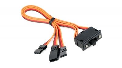 Switch con cable adicional para carga by Spektrum (SPM9530)