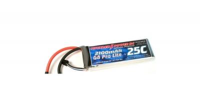 2100mAh 2S 7.4V G8 25C LiPo Thunder Power RC (THP21002SPP25)