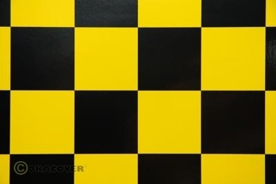 Amarillo-negro cuadriculado de 2